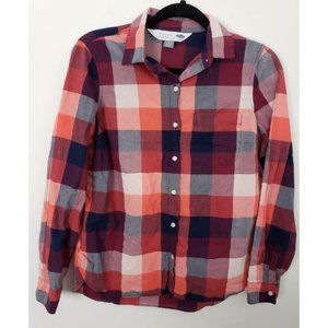 ❤ Old Navy Button Front Plaid Classic Fit Shirt